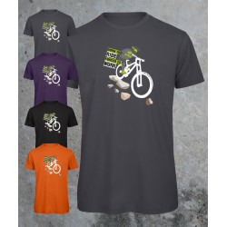 Mountain bike tee - Born to ride, forced to work - 100% organic tshirt