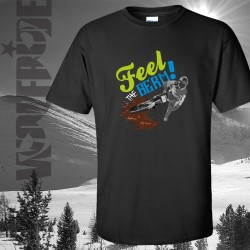 Feel the berm 100% organic mountain bike t-shirt