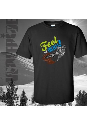 Feel the berm 100% organic mountain bike t-shirt