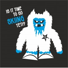Skiiing Yeti t-shirt - because we love it!