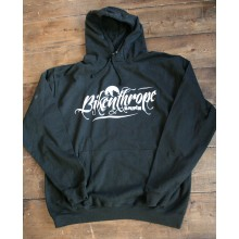 Wolfride Black Hooded top - Bikenthrope design