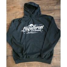 Wolfride Black Hooded top - Bikenthrope design