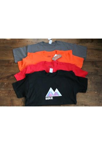 Mountain bike T-shirt.  Simple, colour design