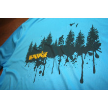 FOREST PRINT - short sleeve performance mountain bike shirt