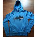 Performance black hoodie - forest print