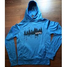 Performance black hoodie - forest print