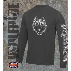 Wolfride Cammo wolf long sleeve performance top