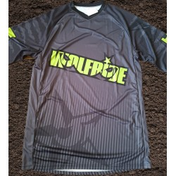 Abstract Wolf Back - Long sleeve breathable wicking down hill race top