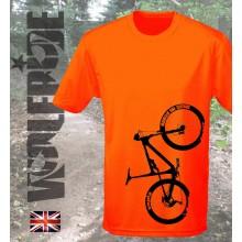 Bike Print short sleeve wicking top, mountain bike, light weight