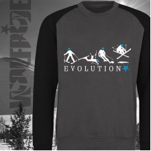 Evolution of Skiing baseball sweater