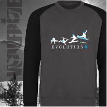 Evolution of Snowboarding baseball sweater