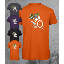 Mountain bike tee - Born to ride, forced to work - 100% organic tshirt