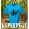 Graffiti bike print short sleeve wicking top, mountain bike, light weight
