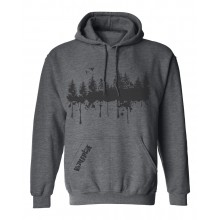 Forest Print Hooded top - heather soft print