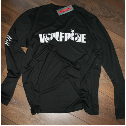 Long sleeve performance bike jersey / top with wolfride logo