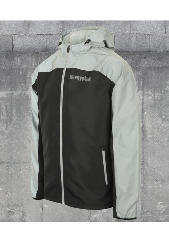 Hi visibility reflective jacket - showerproof, waterproof breathable - light weight pack up jacket