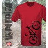Bike Print short sleeve wicking top, mountain bike, light weight