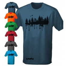 FOREST PRINT - short sleeve performance mountain bike shirt
