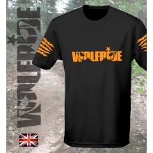 Wolfride logo - short sleeve technical light weight t-shirt  flouro orange