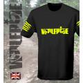 Wolfride logo - short sleeve technical light weight t-shirt  flouro yellow