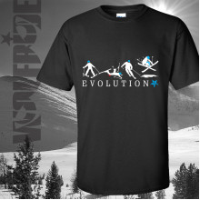 Evolution of Skiing T-shirt