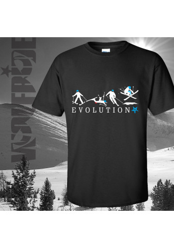 Evolution of Skiing T-shirt