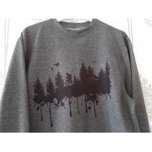 Wolfride Forest Print Sweater