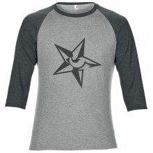 3/4 length 2 colour heather grey and grey marl t-shirt Star